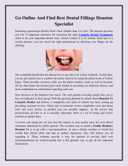 Go Online And Find Best Dental Fillings Houston Specialist