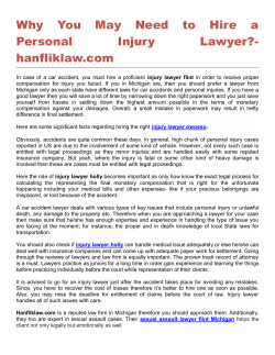 Why You May Need to Hire a Personal Injury Lawyer- hanfliklaw.com