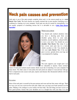 Neck pain causes and prevention