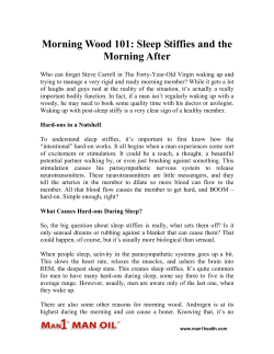 Morning Wood 101 - Sleep Stiffies and the Morning After