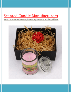 Scented candle manufacturers