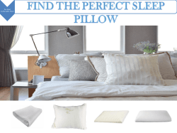 Find The Perfect Sleep Pillow
