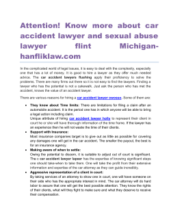 Attention! Know more about car accident lawyer and sexual abuse lawyer flint Michigan hanfliklaw.com