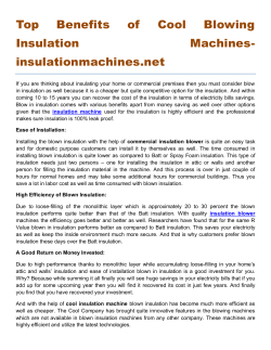 Top Benefits of Cool Blowing Insulation Machines insulationmachines.net