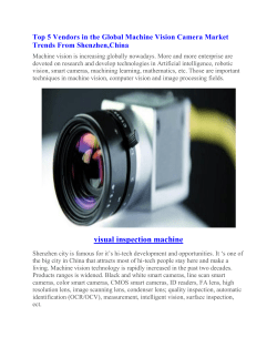 Top 5 Vendors in the Global Machine Vision Camera Market Trends From Shenzhen