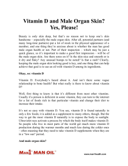 Vitamin D and Male Organ Skin? Yes, Please!