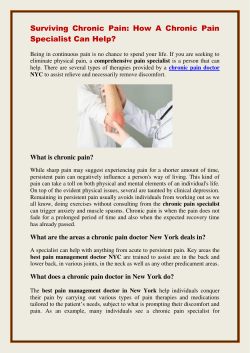 Surviving Chronic Pain How A Chronic Pain Specialist Can Help